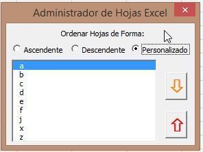 Screenshot for Modulo para Organizar Hojas de Libro Excel