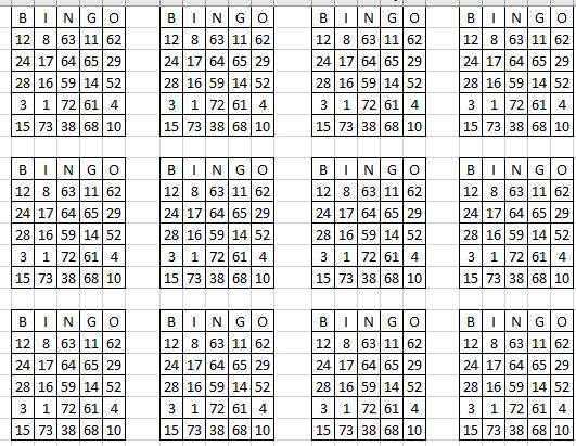 Generador Tablas De Bingo Temas Resueltos Foro De Ayuda Excel