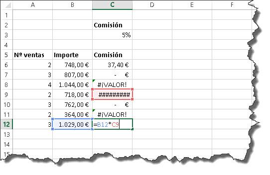 Uso de referencias en fórmulas Excel