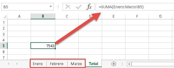 referencias celdas Excel suma