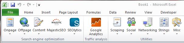 ferramentas de SEO para Excel