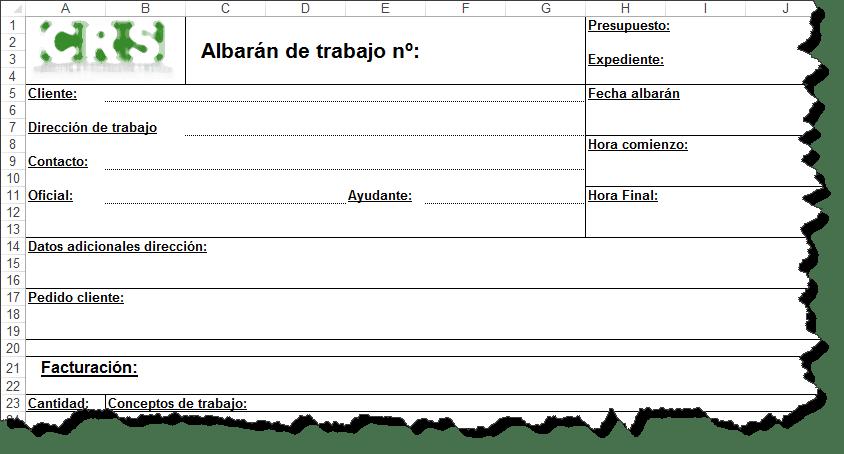 Plantilla de parte de trabajo en Excel - Ayuda Excel