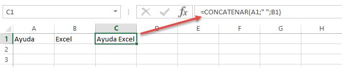 función concatenar