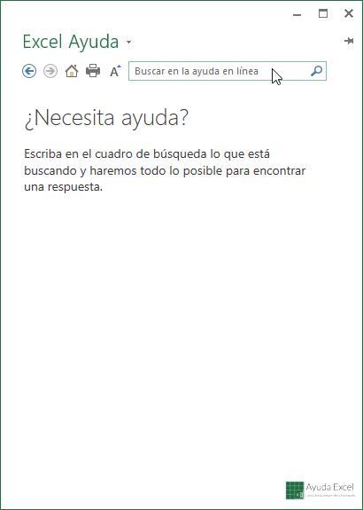 ayuda Excel 2013