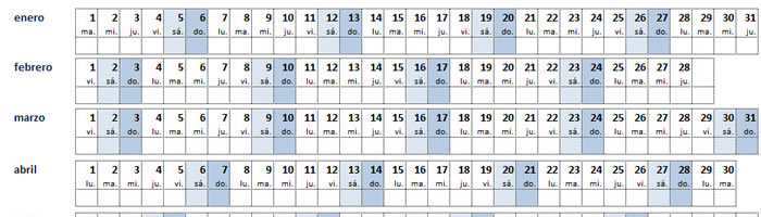 Calendario In Excel 2020.Una Plantilla De Calendario Excel Traducible A 77 Idiomas Y