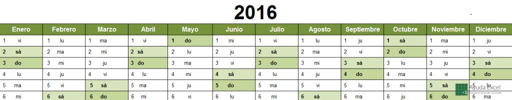 Calendario 2016 02