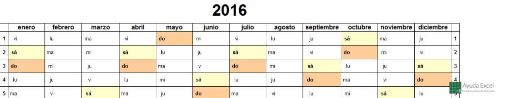 Calendario 2016 07