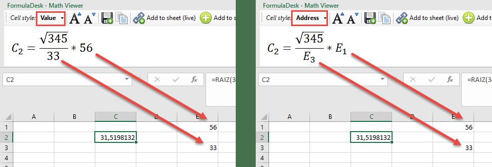 Notacion matemática excel 1