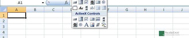 controles activex excel