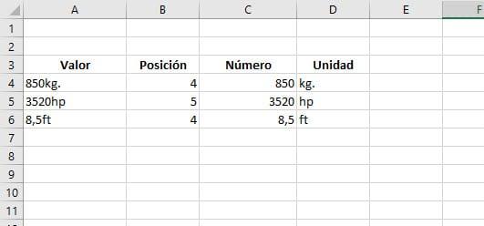 valores unidades medida 1
