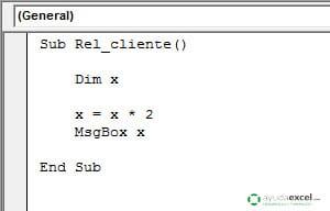 ambito de una variable local excel vba
