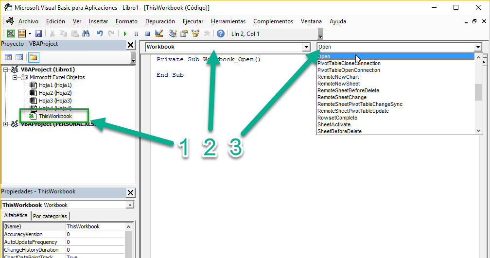 Módulo de libro Excel