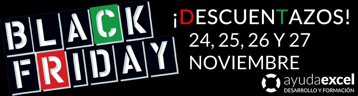 Black Friday Ayuda Excel 2017