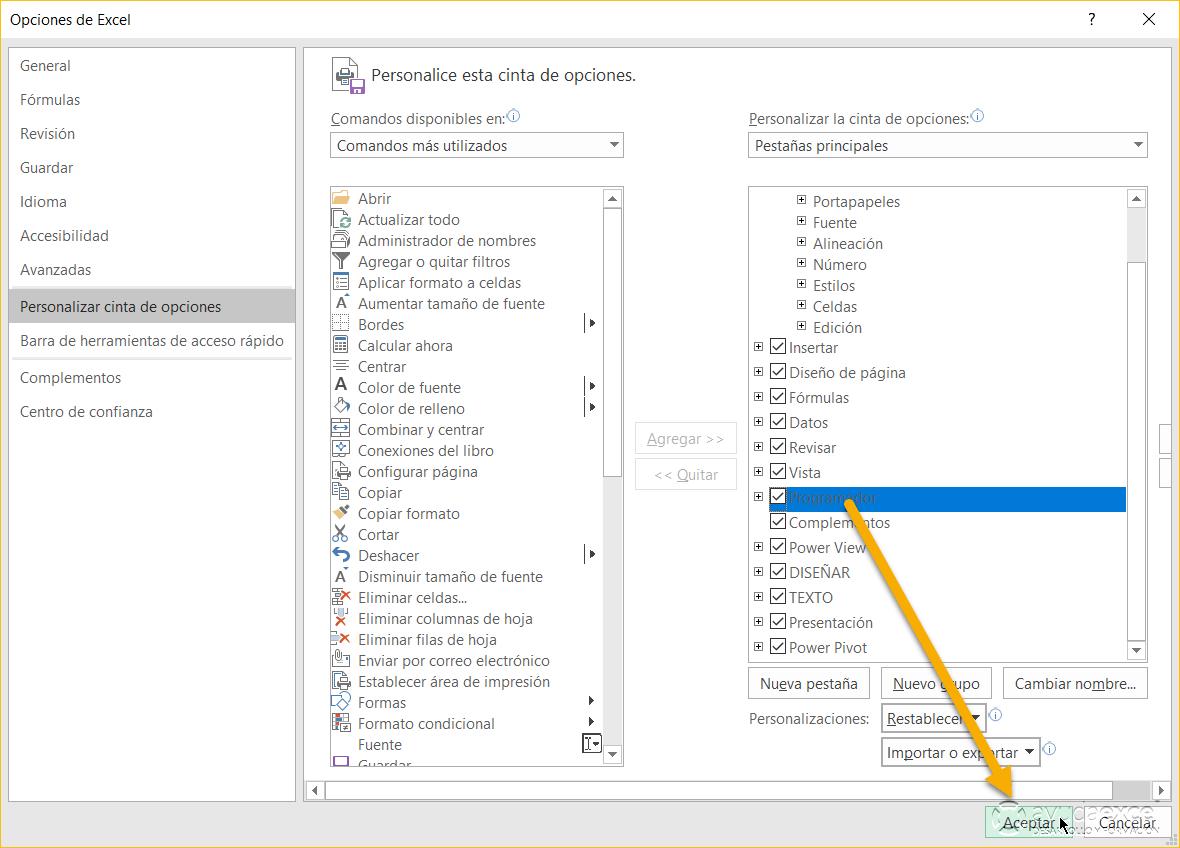 crear checklist en excel