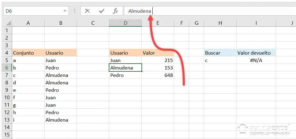 Excel fórmula evaluar herramienta