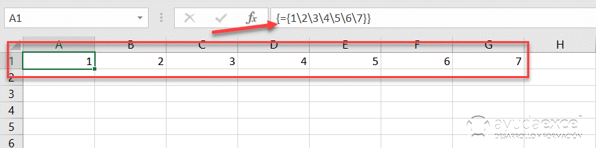 formula matricial horizontal excel