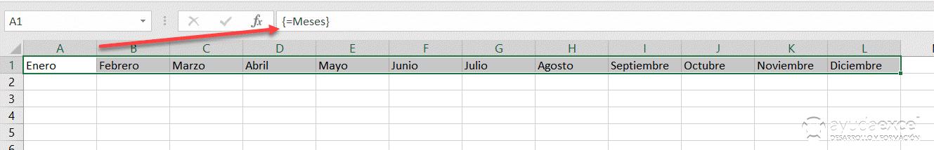 fórmulas matriciales nombre excel