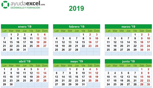 Calendario Excel anual