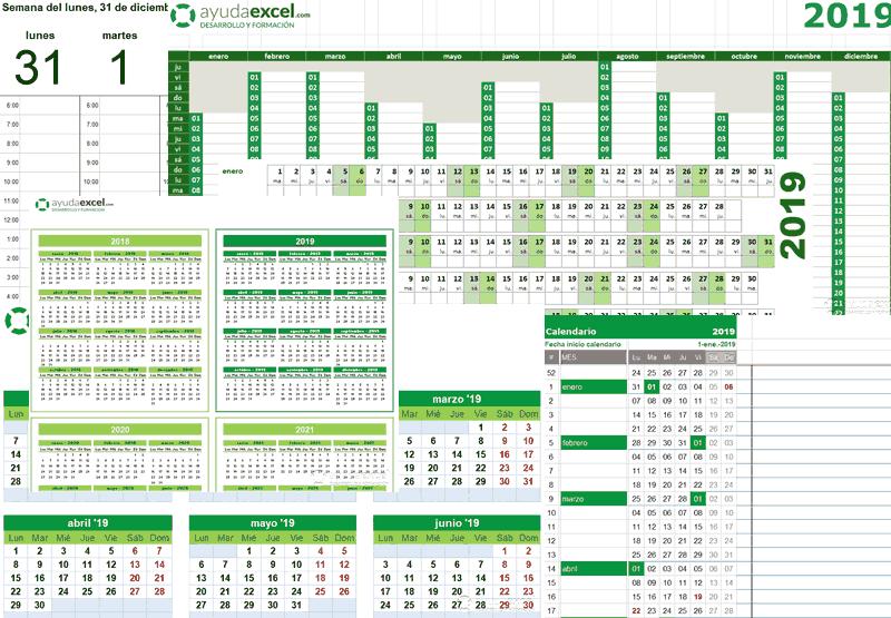 Calendario cualquier año