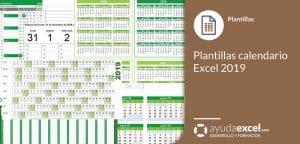 Plantillas calendario 2019 Excel