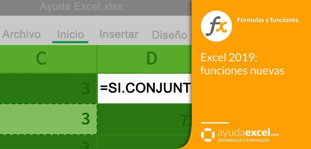 Nuevas funciones Excel 2019