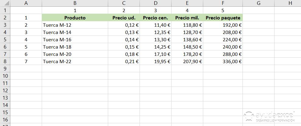 Buscar Excel Indice Coincidir