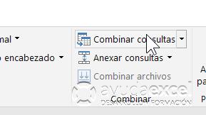 Combinar consultas Excel