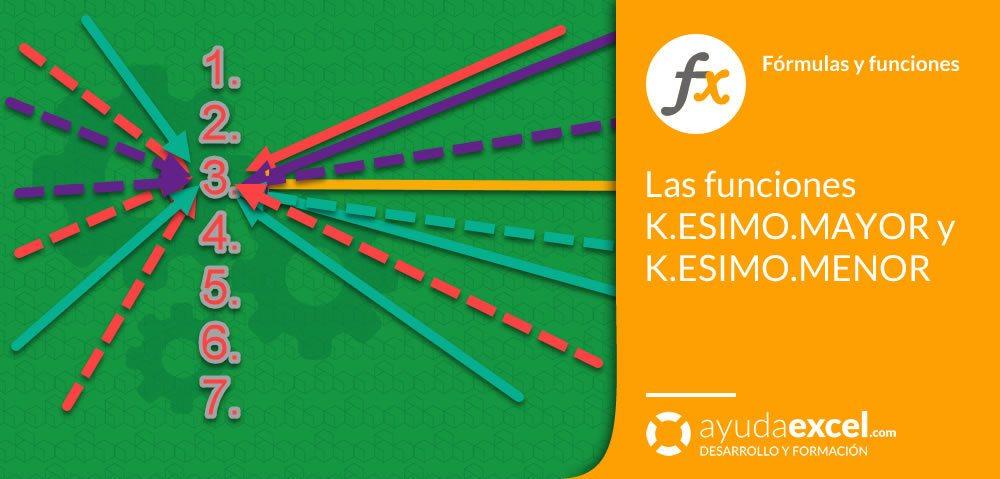 Excel función k.esimo.mayor