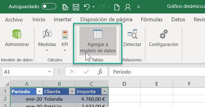 Agregar al modelo de datos Excel Power Pivot