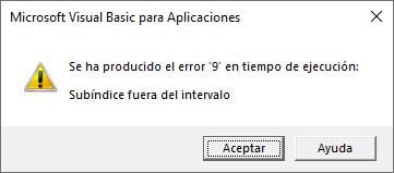 objeto workbook Error tiempo ejecución vba excel