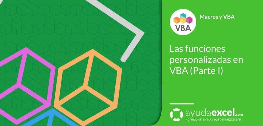 Las funciones personalizadas en VBA