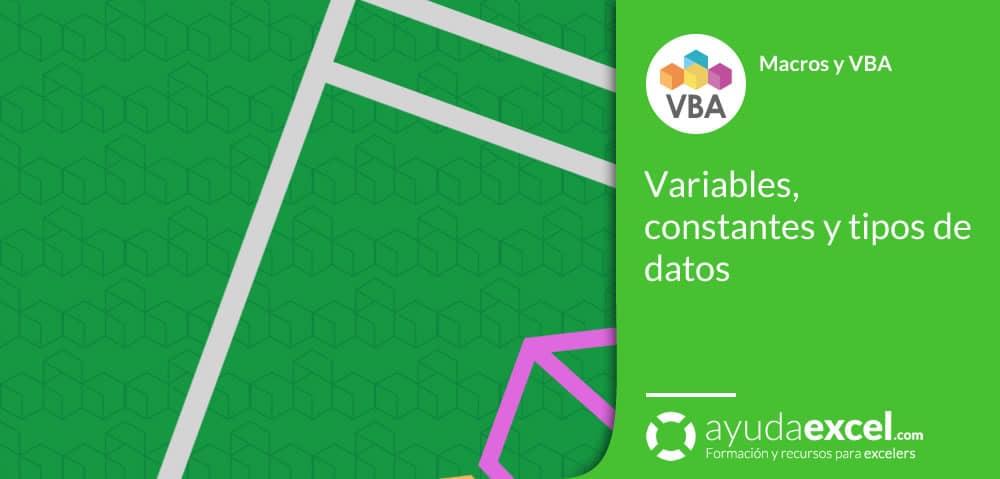 variables, constantes vba