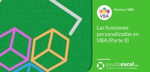 funciones personalizadas udf VBA Excel